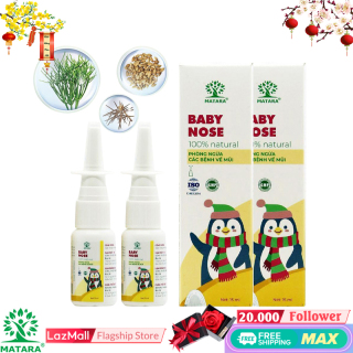 Matara - [COMBO 2] - 2 Lọ Xịt Mũi Baby Nose dung tích 15ml - Nguồn gốc tự nhiên, Tinh Chất Thảo Dược Kết Hợp Công Nghệ Nano Được Các Biện Lớn Tin Dùng Để Hỗ Trợ Viêm Xoang, Viêm Mũi Dị Ứng - Đặc Biệt An Toàn Với Trẻ Em thumbnail