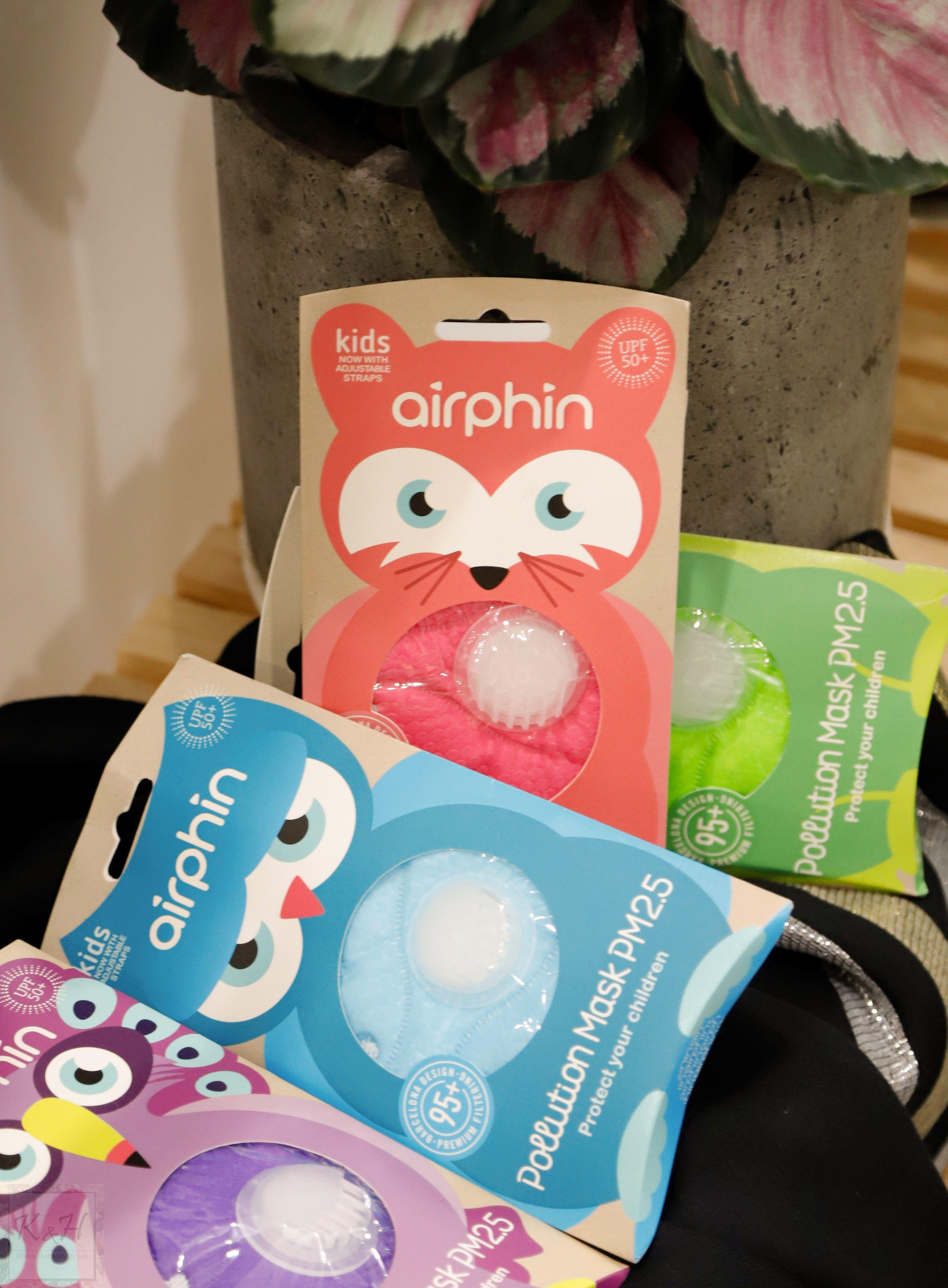 [CHO BÉ] Khẩu trang cao cấp Airphin chống bụi mịn PM 2.5 và UV UPF 50+