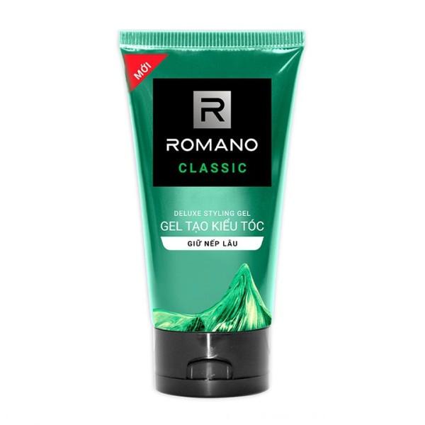 Gel tạo kiểu tóc cao cấp Romano Classic 150gr cổ điển lịch lãm giữ nếp cả ngày giá rẻ