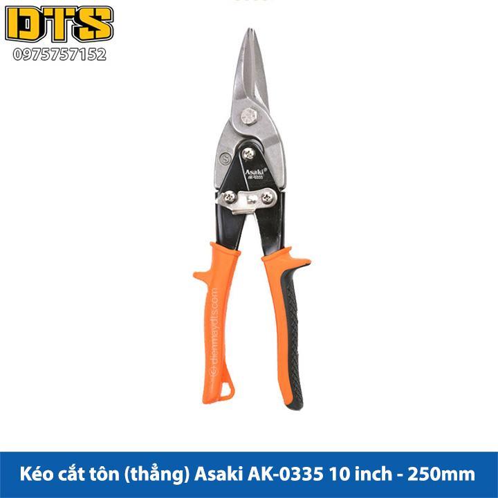 Kéo cắt tôn (tole) mũi thẳng Asaki 10inch - 250mm