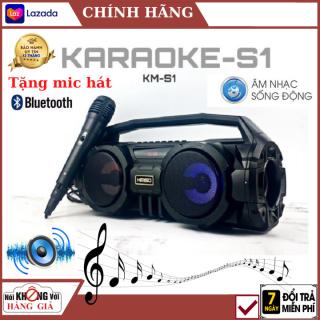 (Tặng míc hát), Loa Bluetooth Karaoke Kimiso KM-S1 , Âm thanh 3D nổi , bass cực khỏe , loa karaoke . loa bluetooth , loa mini , loa vi tính , loa máy tính . loa kéo , loa nghe nhạc , loa kẹo kéo thumbnail