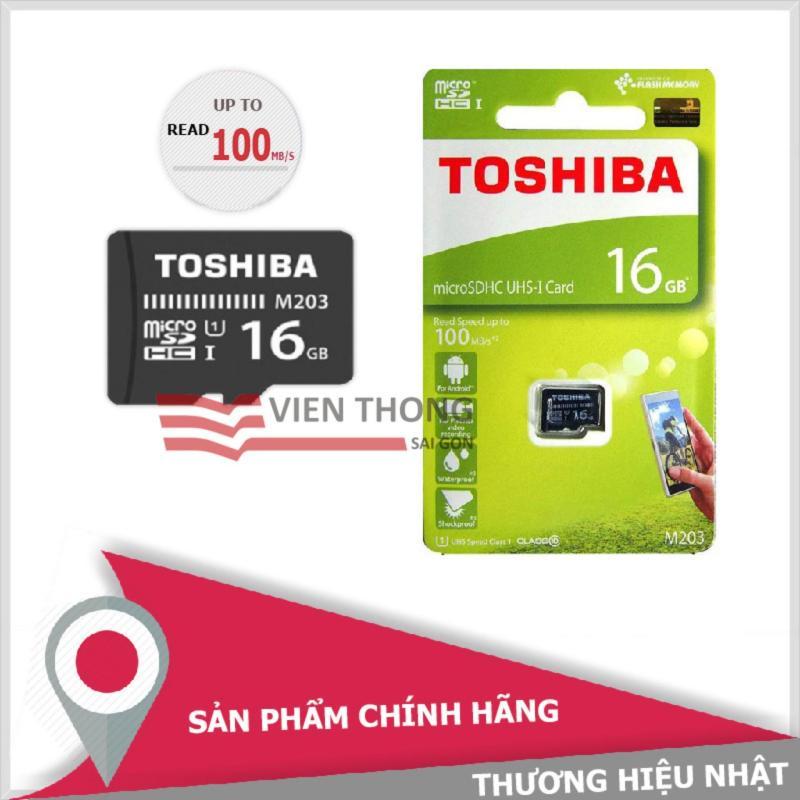 Thẻ nhớ 16GB tốc độ cao Toshiba UHS-1 Micro SDHC Class10