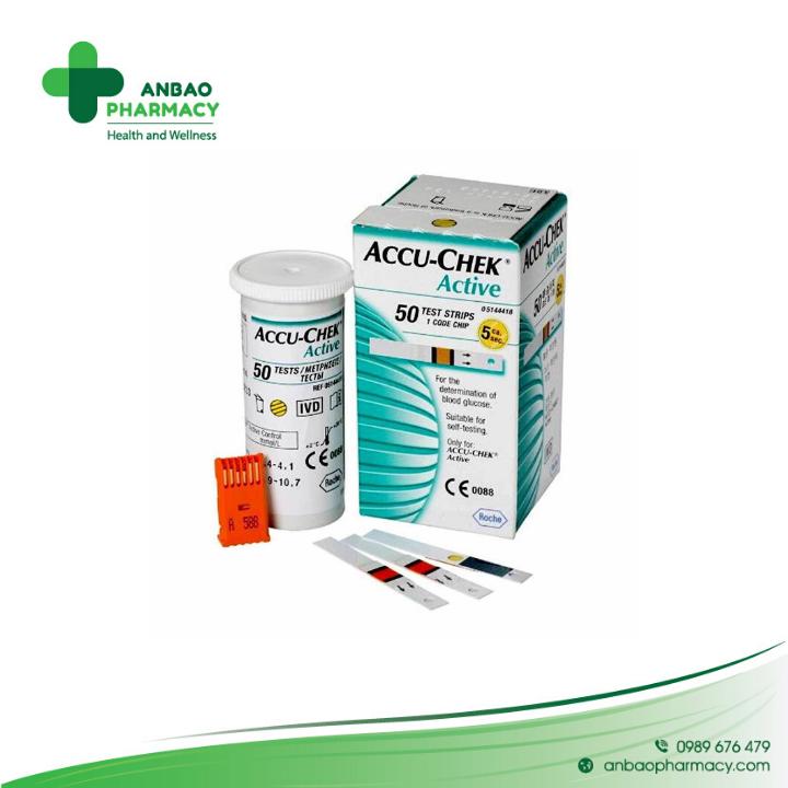 Que thử đường huyết Roche Accu-Chek Active 50 (hộp 50 que)
