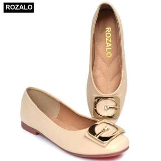 Giày búp bê đế bệt siêu dẻo mũi tròn Rozalo R5611