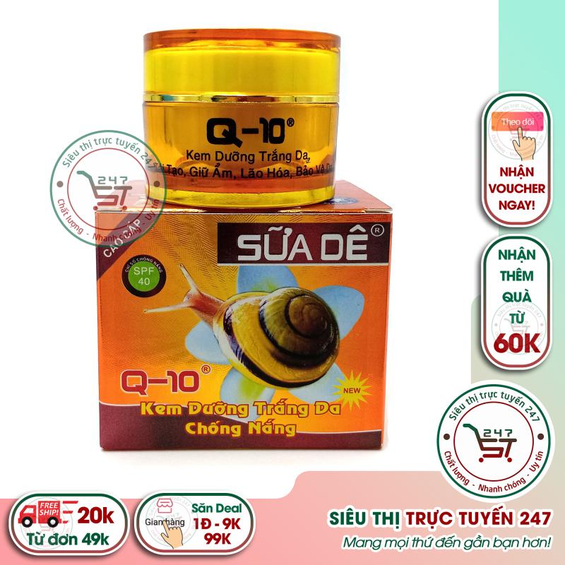 Kem chống nắng, kem dưỡng trắng da,dưỡng ẩm, tái tạo da chống lão hóa Q10 sữa dê 18g (Nâu nhạt) Siêu thị trực tuyến 247