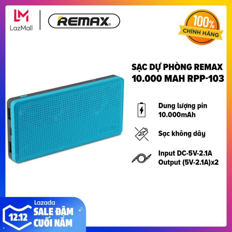 Giá [HÀNG CHÍNH HÃNG - BẢO HÀNH 12 THÁNG 1 ĐỔI 1] Sạc dự phòng Remax 10.000 mAh - Công nghệ sạc không dây - Input 5V-2.0A/Output 2.4A RPP-103