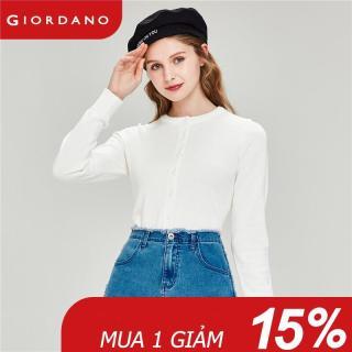Áo khoác cardigan len siêu mềm cổ tròn có cúc phong cách nữ tính Giordano FREESHIP 05359866 thumbnail