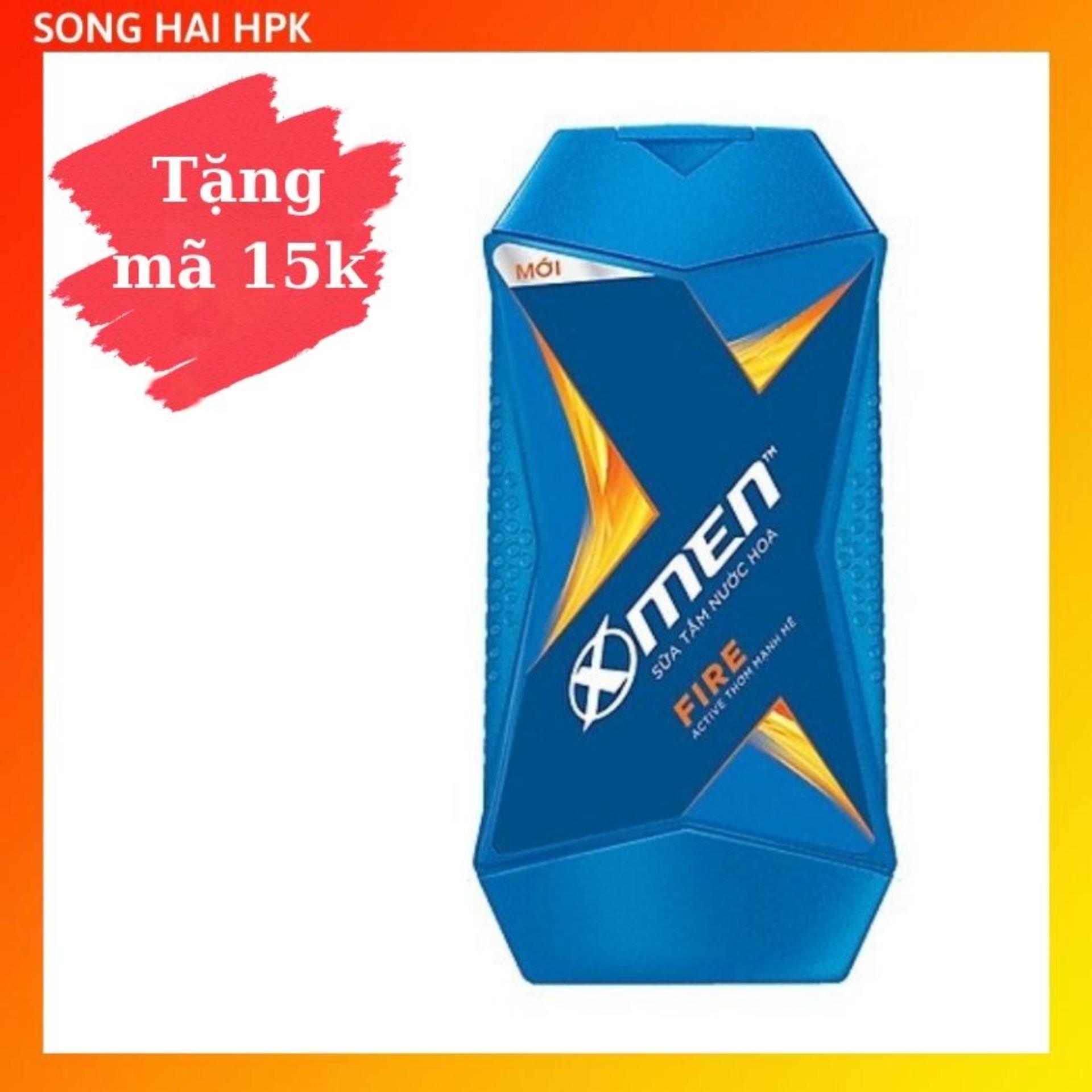 Sữa tắm nước hoa X-Men Fire Active - Sạch sâu thơm mạnh mẽ 380g Songhaihpk nhập khẩu