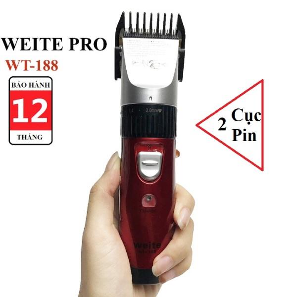Tăng đơ hớt tóc hoạt động êm, cắt bén WEITE WT-188 - Bảo hành 12 tháng-Mua tong do cat toc o dau giá rẻ