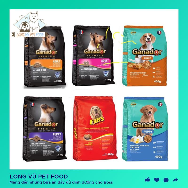 Gói 400g Thức ăn cho chó Ganador - FIBs - Adult - Puppy - Long VŨ Pet Food
