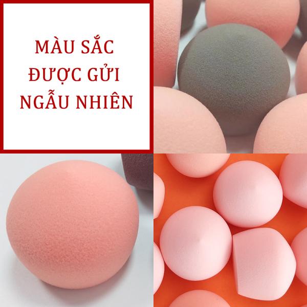 Mút đánh kem nền cao cấp Beauty Egg Sponge - Mút trang điểm, mút tán kem nền siêu mềm mịn, mút tán nền dễ vệ sinh[Màu sắc được vận chuyển ngẫu nhiên]