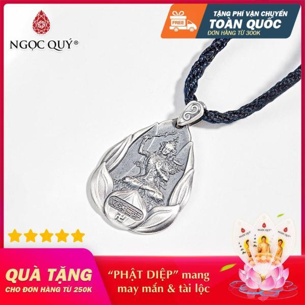 [HCM]Mặt Dây Chuyền Bạc Phật Bản Mệnh Văn Thù Bồ Tát Tuổi Mão 3.6*2.6cm (màu bạc) - Ngọc Quý Gemstones