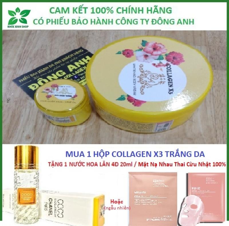 [Chính hãng] Combo Kem body collagen x3 và siêu kích trắng x6