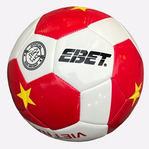 Bóng đá Động Lực trẻ em số 4 hình Việt Nam vô địch Hàng nhập khẩu tặng kèm kim bơm bóng +lưới đựng bóng