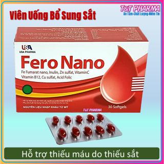 Viên uống Fero Nano bổ sung Sắt, Acid Folic cho người thiếu máu não, phụ nữ mang thai và sau sinh - Hộp 100 viên thumbnail