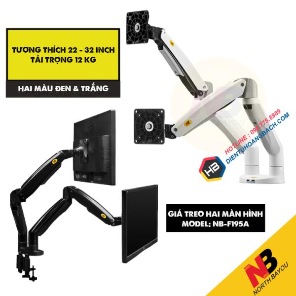 Bảng giá Giá treo hai màn hình NB F195A 22 - 32 inch ( Màu đen và Trắng ) Phong Vũ