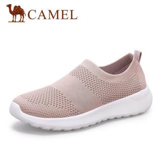 Cameljeans Giày slip on lưới thoáng khí dành cho nữ thích hợp đi bộ đường dài