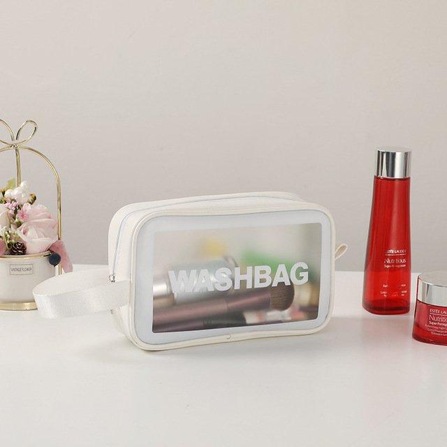 Túi Đựng Mỹ Phẩm Trong Suốt Đựng Đồ Trang Điểm Đi Du Lịch Cá Nhân Washbag , Wahsbag Trong Suốt Chống Thấm Nước HL8 - Hộp Để Bông Tẩy Trang Makeup Tui Đựng Son