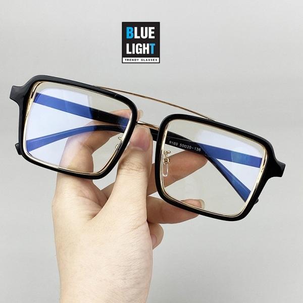Giá bán Kính Giả Cận, Gọng Kính Cận Nam Nữ Mắt Vuông To 2 Khung Cá Tính Đen Trong Suốt Không Độ Hàn Quốc - BLUE LIGHT SHOP