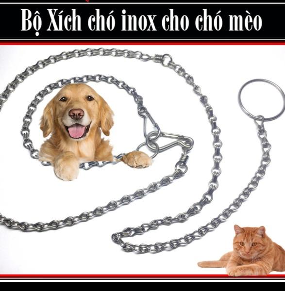 Dây xích chó mèo nhỏ size 1 dài 1,2m dành cho mèo và chó nhỏ dưới 6kg