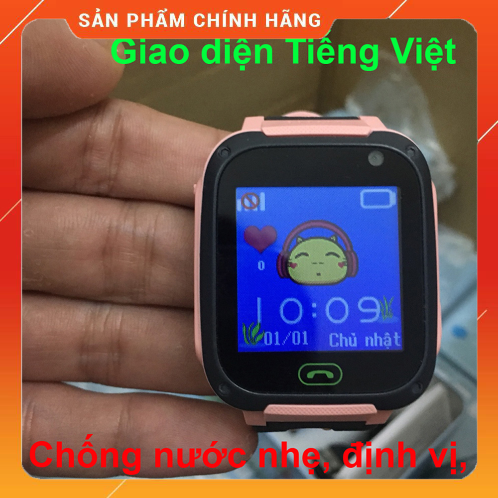 Đồng hồ định vị trẻ em thông minh SmartKID Q99 màn hình cảm ứng có camera, giao diện Tiếng việt, Bảo hành 12 tháng
