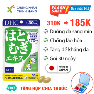 Viên uống trắng da DHC Nhật Bản Adlay Extract thực phẩm chức năng giúp dưỡng ẩm da, mờ thâm, tăng cường đề kháng da có vitamin E 30 ngày XP-DHC-ADL30 thumbnail