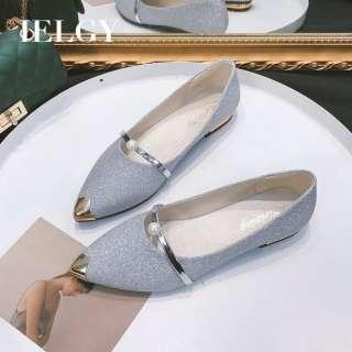 Giày Nữ IELGY Peas, Giày Đế Bệt Mũi Nhọn Đế Nông, Giày Đế Mềm Thường Ngày Cho Học Sinh