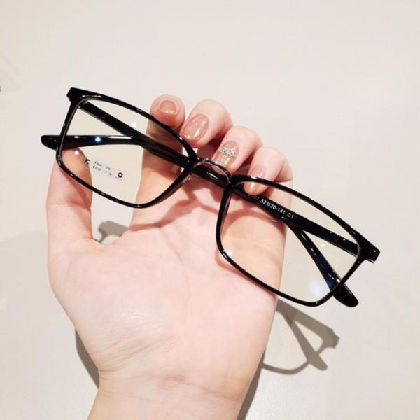 Giá bán Gọng kính cận nữ u001dHàn 2167 viền mỏng bảo hành 12 tháng gọng vuông trong suốt nhựa dẻo kính trắng giả cận