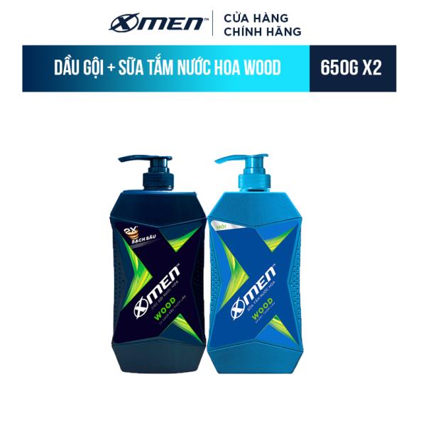 Combo Dầu Gội X-Men Nước hoa Wood 650G và Sữa Tắm X-Men Nước hoa Wood 650G