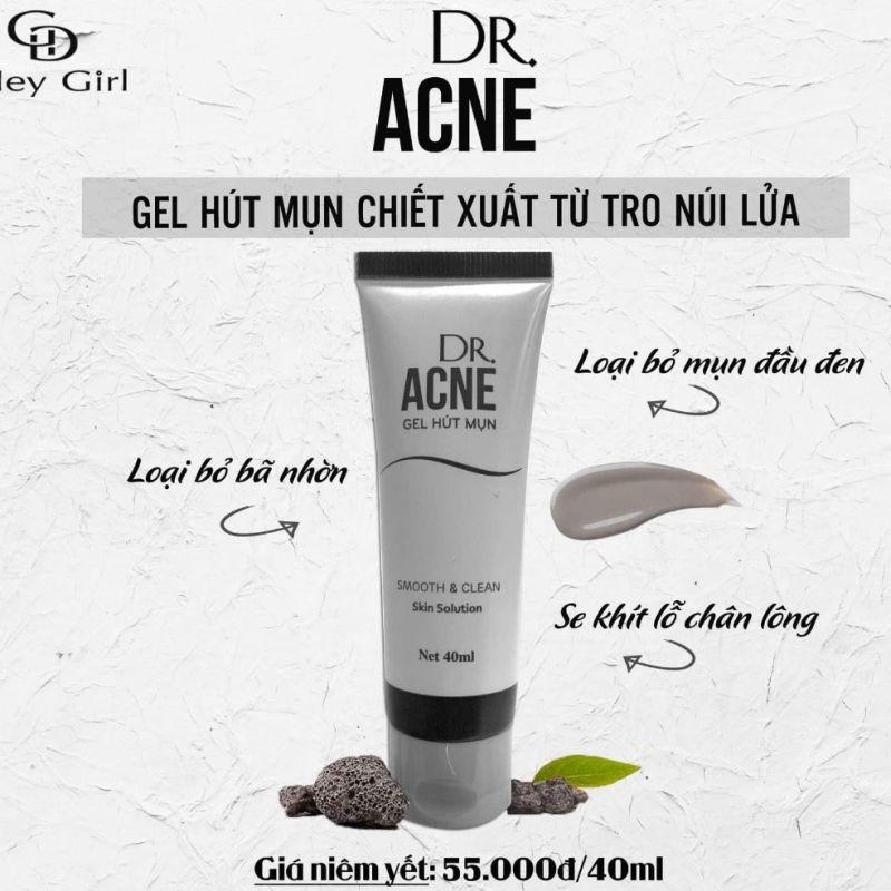 Gel lột mụn đầu đen dr acne