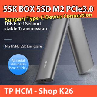 SSK Box SSD M2 NVMe PCIe3.0 - 2242 2260 2280 Chuẩn USB 3.1 Type C Vỏ Nhôm Hỗ Trợ Đến 10Gbps thumbnail