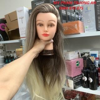 Đầu manocanh học làm tóc Chịu nhiệt độ cao tóc dài 60cm thumbnail