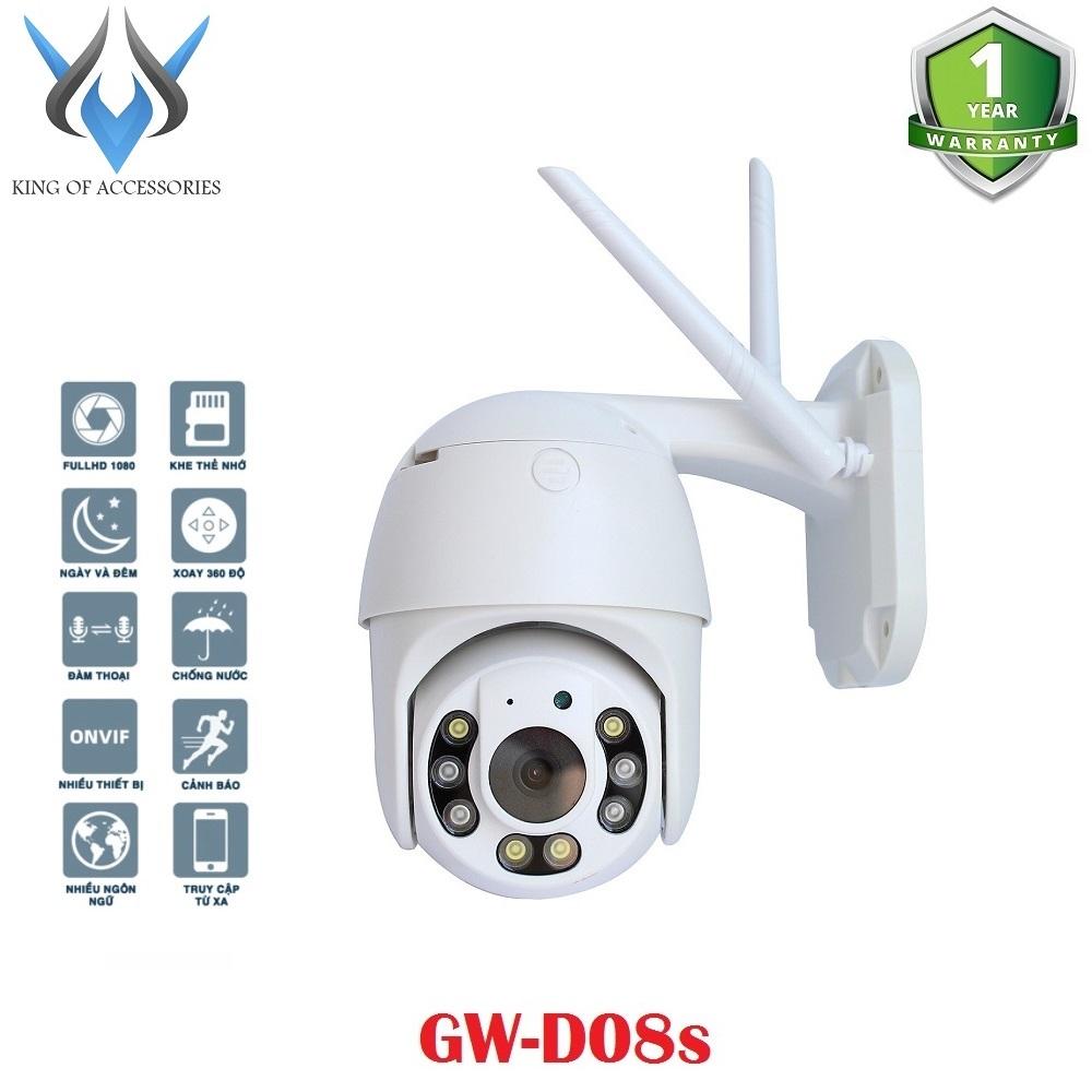 Camera IP Wifi Ngoài trời Yoosee GW-D08s PTZ 2 Râu FullHD 1080P 4 LED trợ sáng, 4 LED hồng ngoại, đàm thoại 2 chiều, hỗ trợ xoay 355 độ (Trắng) - Phụ Kiện 1986