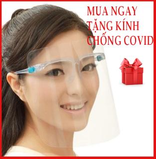 Kính che mặt chống giọt bắn, kính chặn covid có gọng gương, an toàn, dễ sử dụng thumbnail