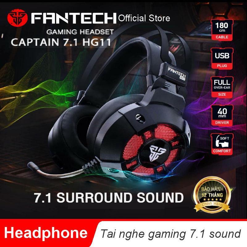 Tai nghe FanTech HG11 Captain 7.1 có LED RGB - Hãng Phân Phối Chính Thức Nhật Bản