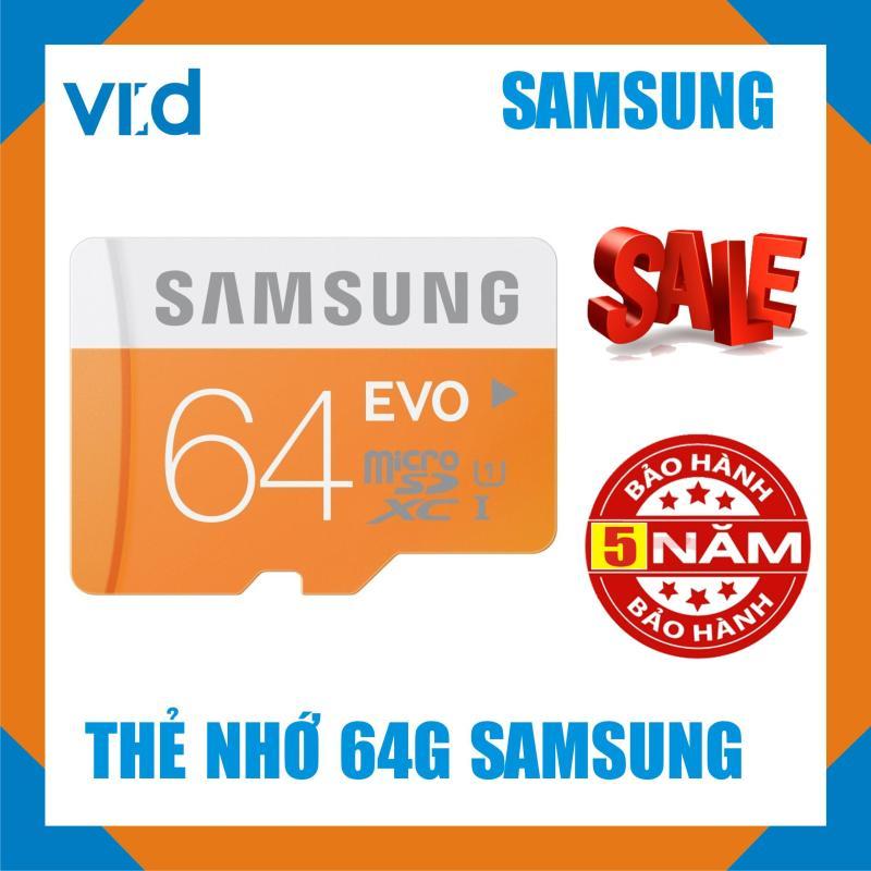 Thẻ nhớ Samsung Micro SDXC UHS-1 Card 64GB - Bảo hành 5 năm
