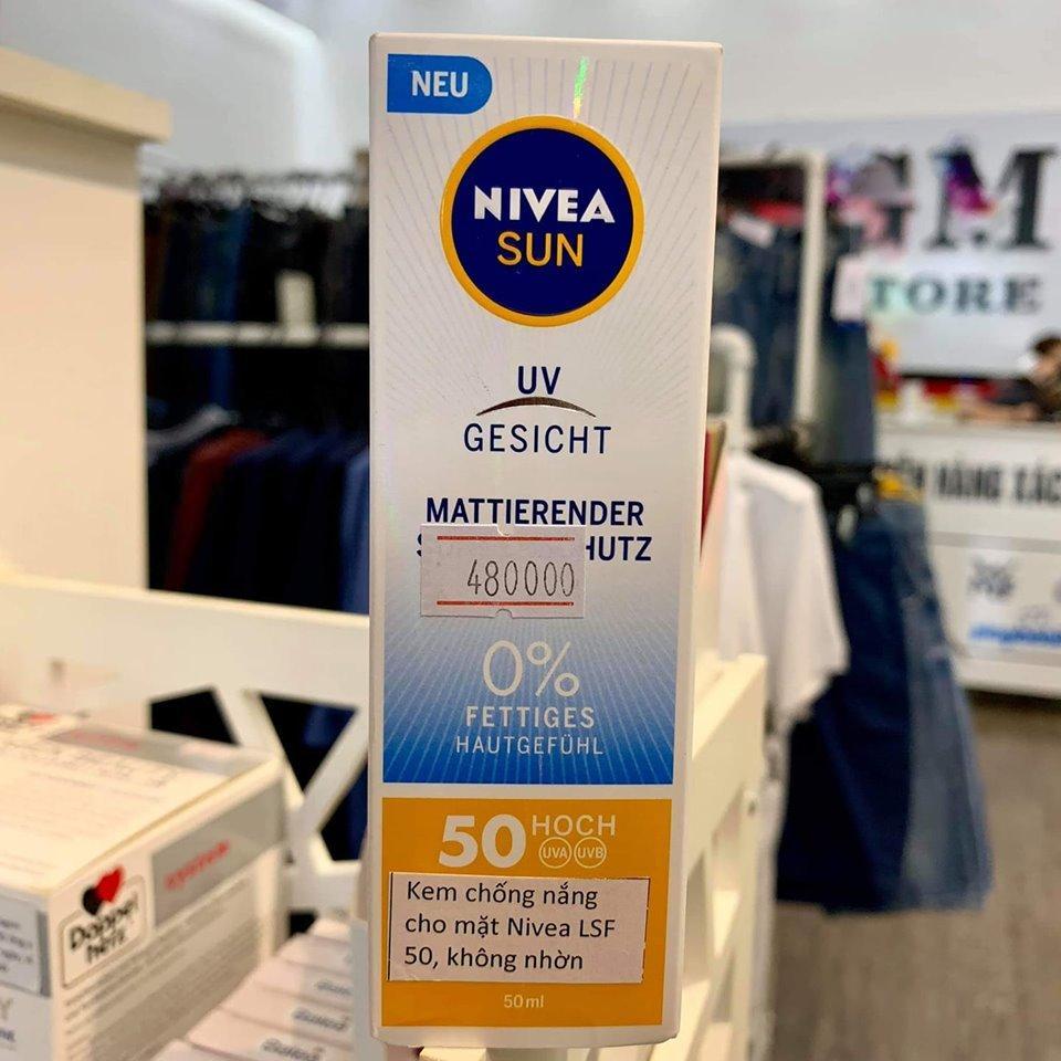 GMSTORE - Kem chống nắng cho mặt Nivea LSF 50, không nhờn