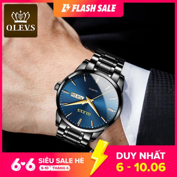 Đồng hồ nam sang trọng chất liệu thép không gỉ thạch anh chống nước OLEVS