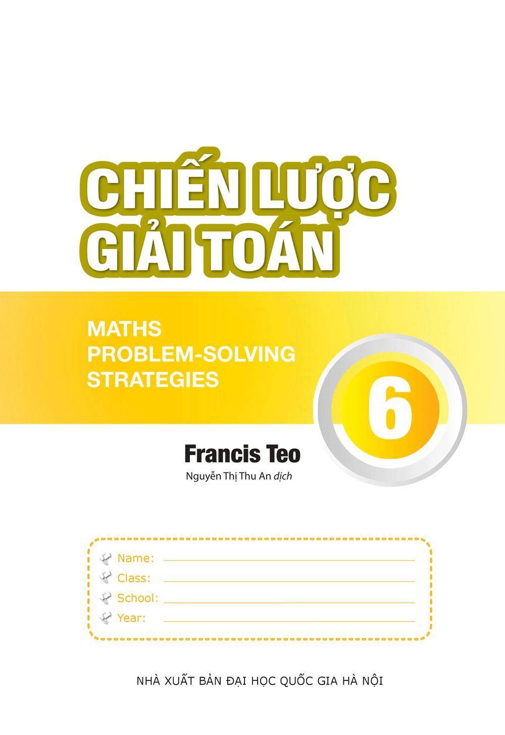 Mua Sách Chiến lược giải toán 6 - Song ngữ