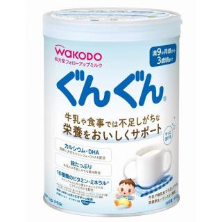 Sữa Wakodo GUNGUN cho bé từ 9 tháng đến 3 tuổi 830gr hàng nội địa Nhật Bản thumbnail