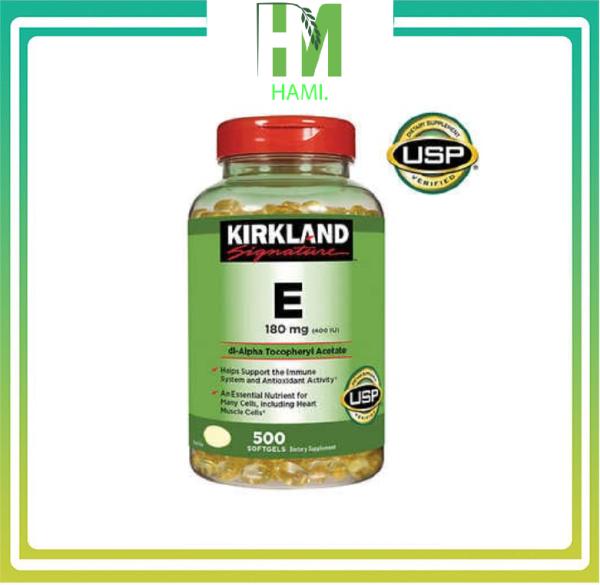 Vitamin E 400 IU 500 viên Kirkland - HÀNG CANH SALE