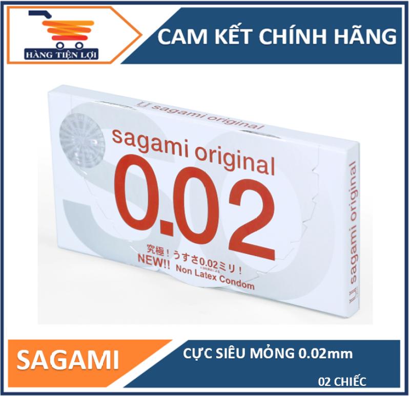 Bao cao su Cực siêu mỏng Sagami Original 0.02mm - Hộp 2 cái