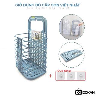 Giỏ Đựng Đồ, Quần Áo Bẩn Gấp Gọn Treo Kế Máy Giặt Hoặc Treo Tường Tiện Lợi - Hàng chuẩn Việt Nhật thumbnail