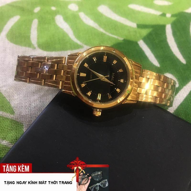 Nơi bán [VẠN NGƯỜI MÊ] Đồng hồ dành cho phái đẹp mặt tròn cá tính viền vát dây thép siêu bền đẹp G115-NM2F-tặng kính gọng xoắn thời trang