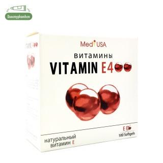 [HCM]VITAMIN E400 iu Nga, Vitamin E Đỏ, Ngăn Ngừa Lão Hóa, Cấp Nước Cho Da Hộp 100 viên thumbnail