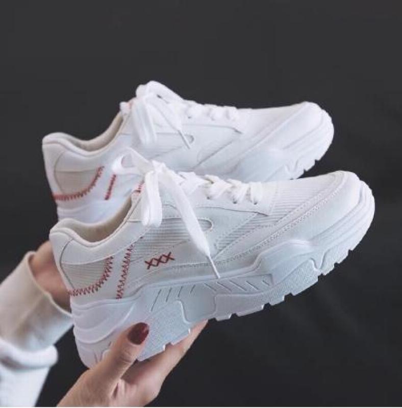 Giày sneaker nữ Đế trắng đẹp Viền chữ X X X