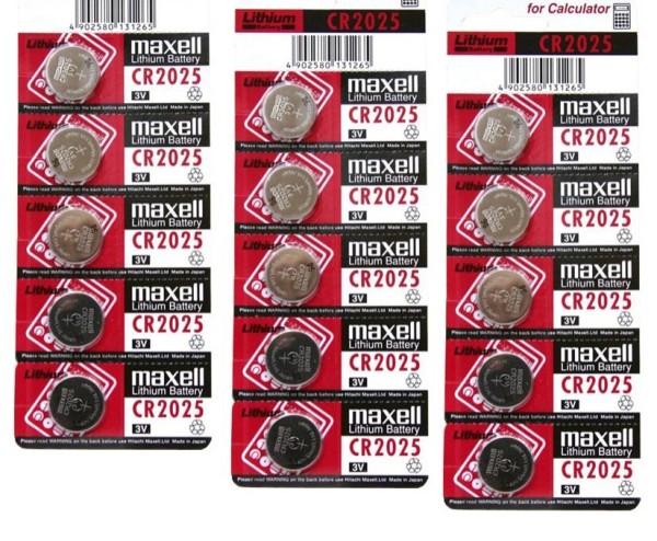 [HCM]Vỉ pin 2025 Maxell 5 viên dùng để thay điều khiển các loại - Pin 3v Lithium - CR2025