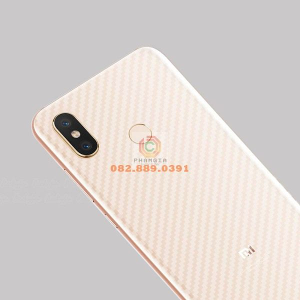 Miếng dán mặt lưng skin carbon Xiaomi Mi Max 3