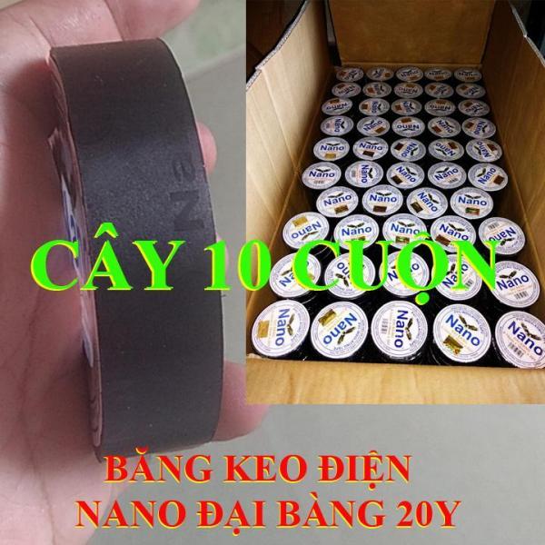 Mua Cây 10 cuộn Băng dính điện băng keo điện ĐẠI BÀNG 20Y - BĂNG KEO ĐIỆN - BĂNG KEO ĐEN