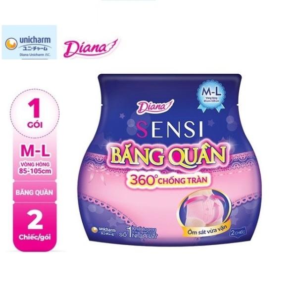 Băng đêm dạng quần Diana  Size M-L 2 chiếc/gói cao cấp
